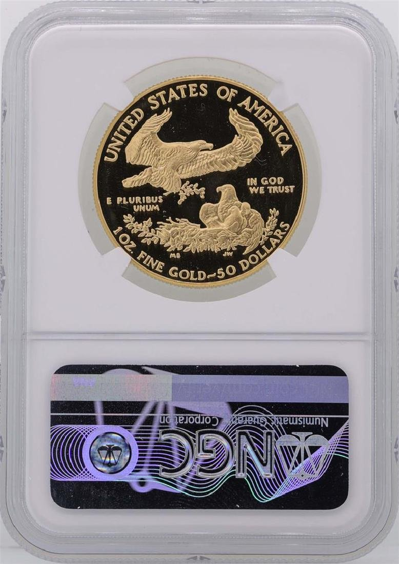 1986-W $50 American Gold Eagle Coin NGC PF69 Ultra - 2