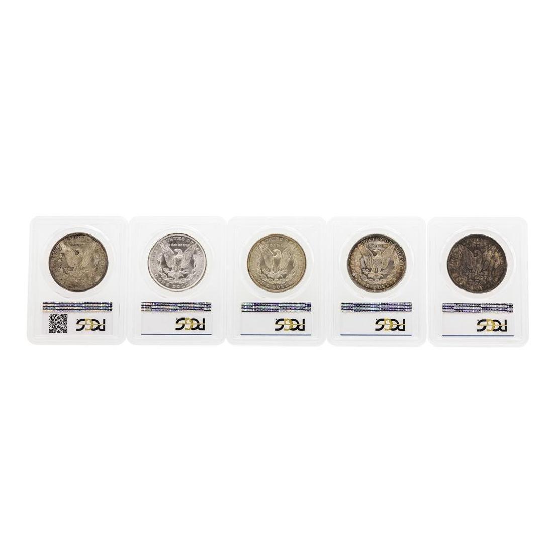 Set of (5) 1885-1889 $1 Morgan Silver Dollar Coins PCGS - 2