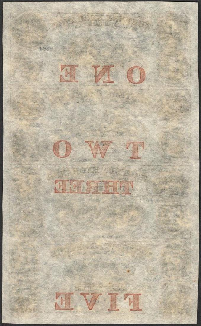 Uncut Sheet of 1857 Western Exchange Fire & Marine - 2