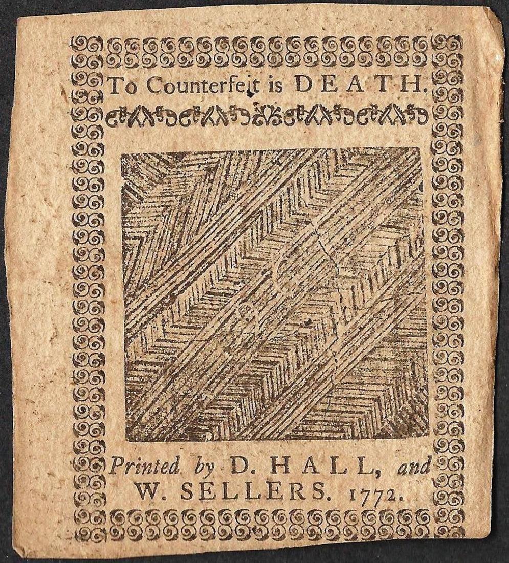 April 3, 1772 Pennsylvania Two Shillings Six Pence - 2