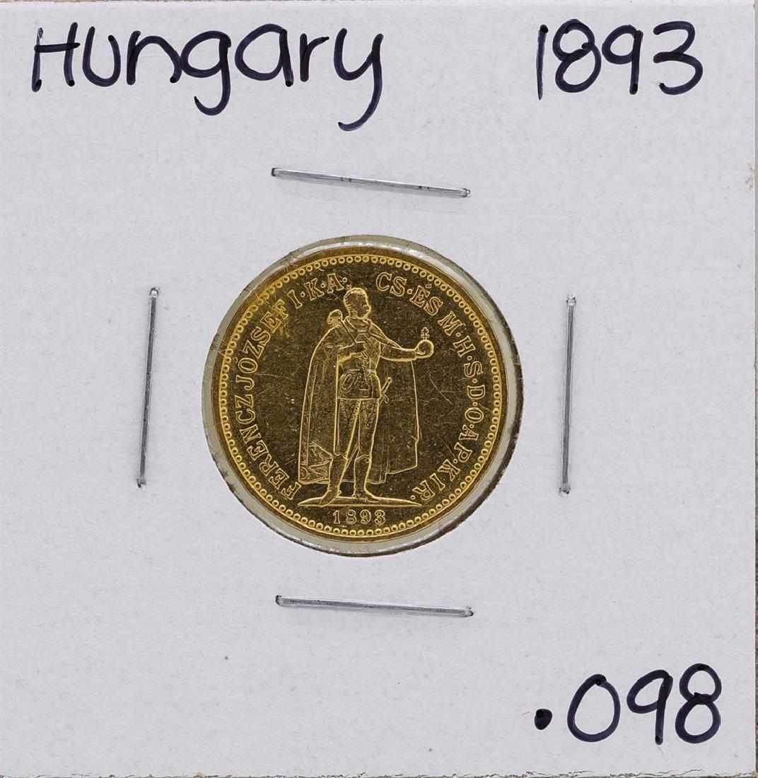 1893KB Hungary 10 Korona Gold Coin