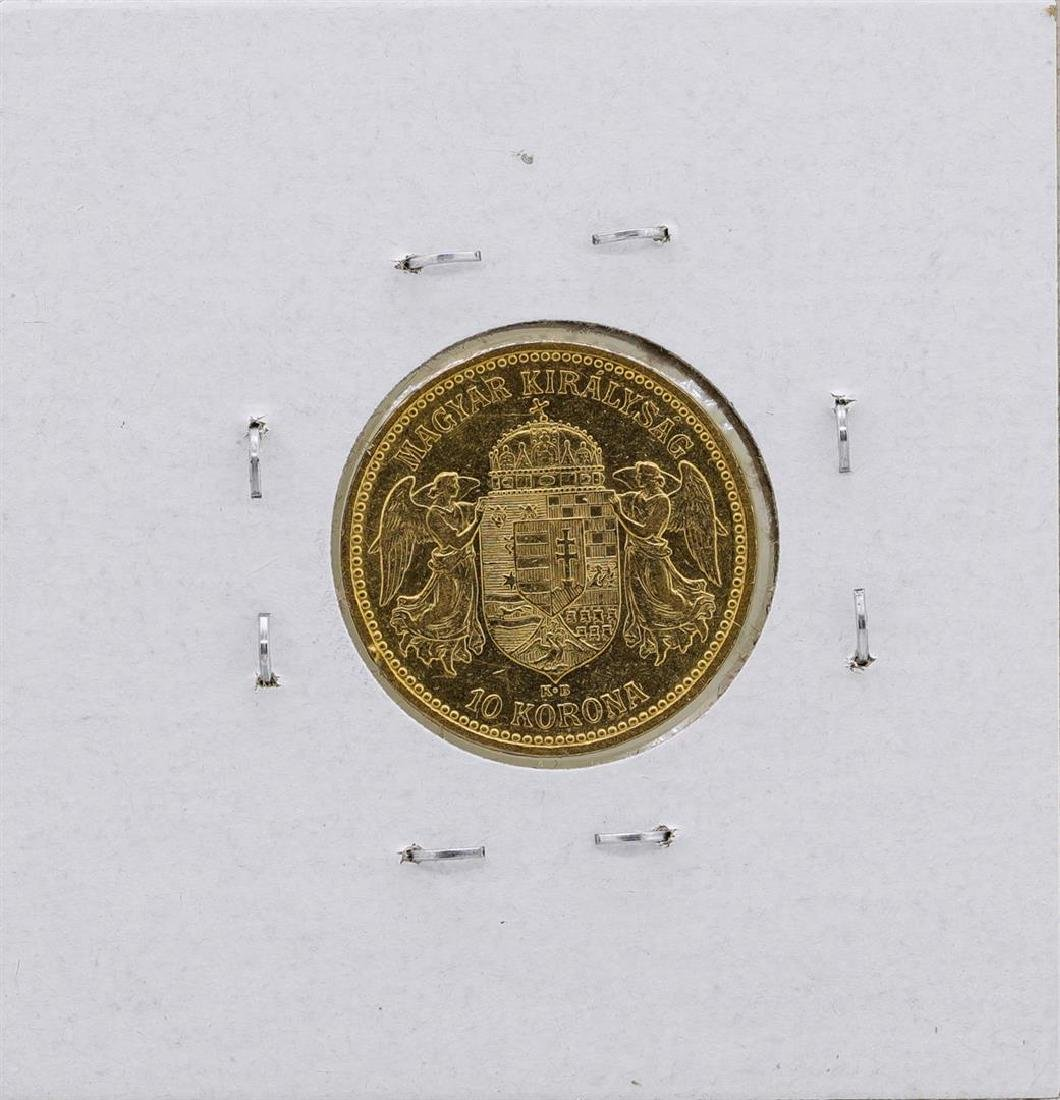 1893KB Hungary 10 Korona Gold Coin - 2