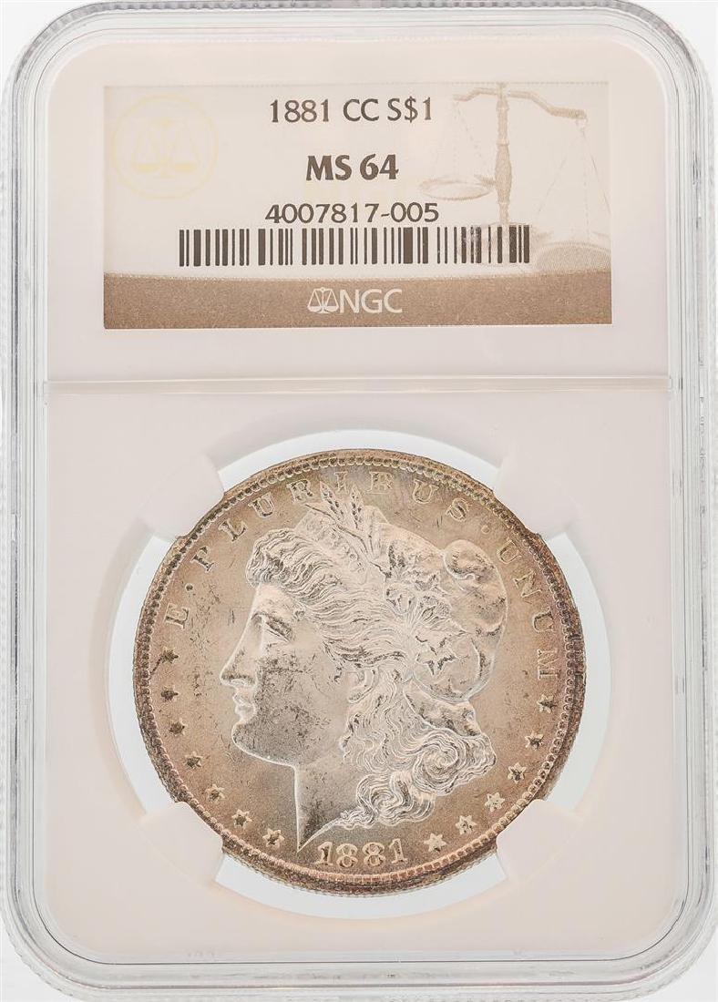 1881-CC $1 Morgan Silver Dollar Coin NGC MS64