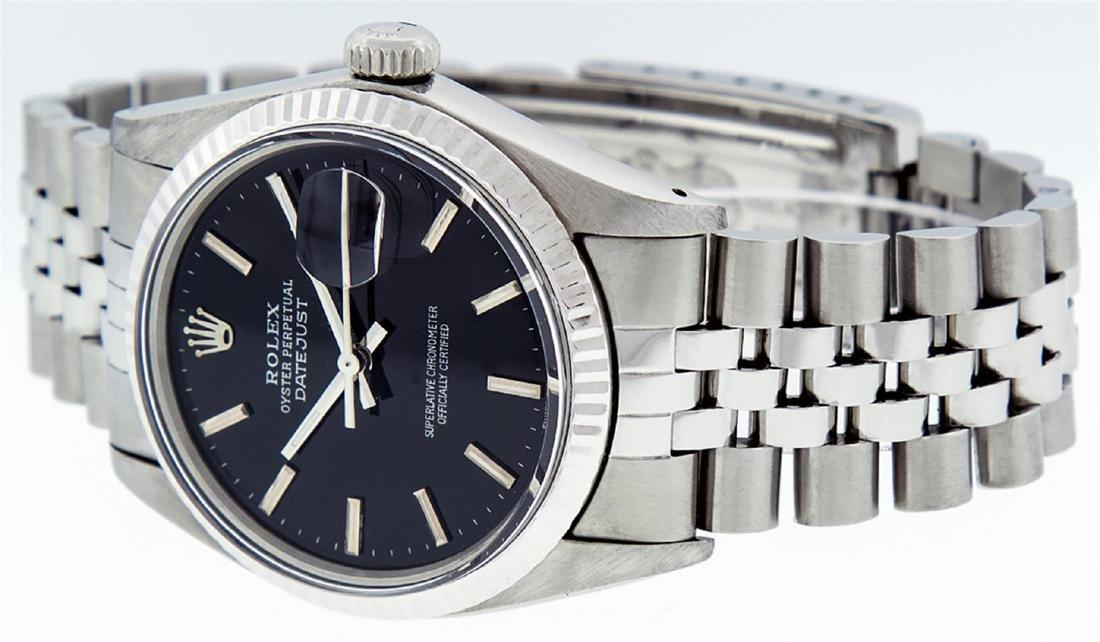 Rolex Men's Stainless Steel Black Index 36mm Datejust - 3
