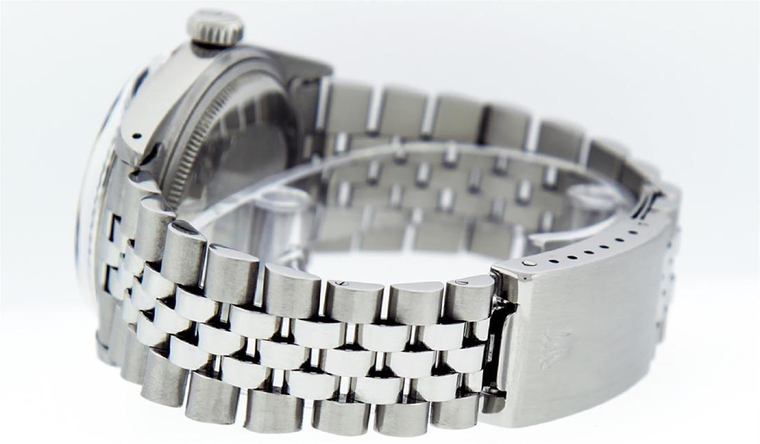 Rolex Men's Stainless Steel Black Index 36mm Datejust - 5