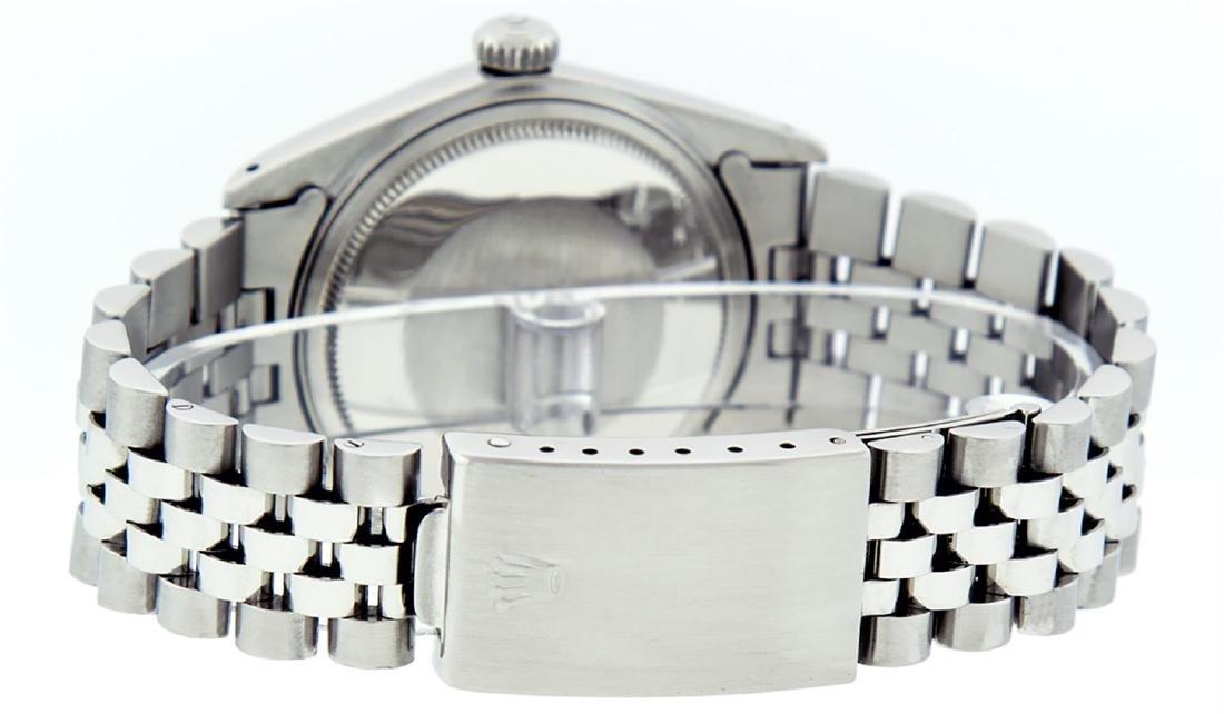 Rolex Men's Stainless Steel Black Index 36mm Datejust - 6