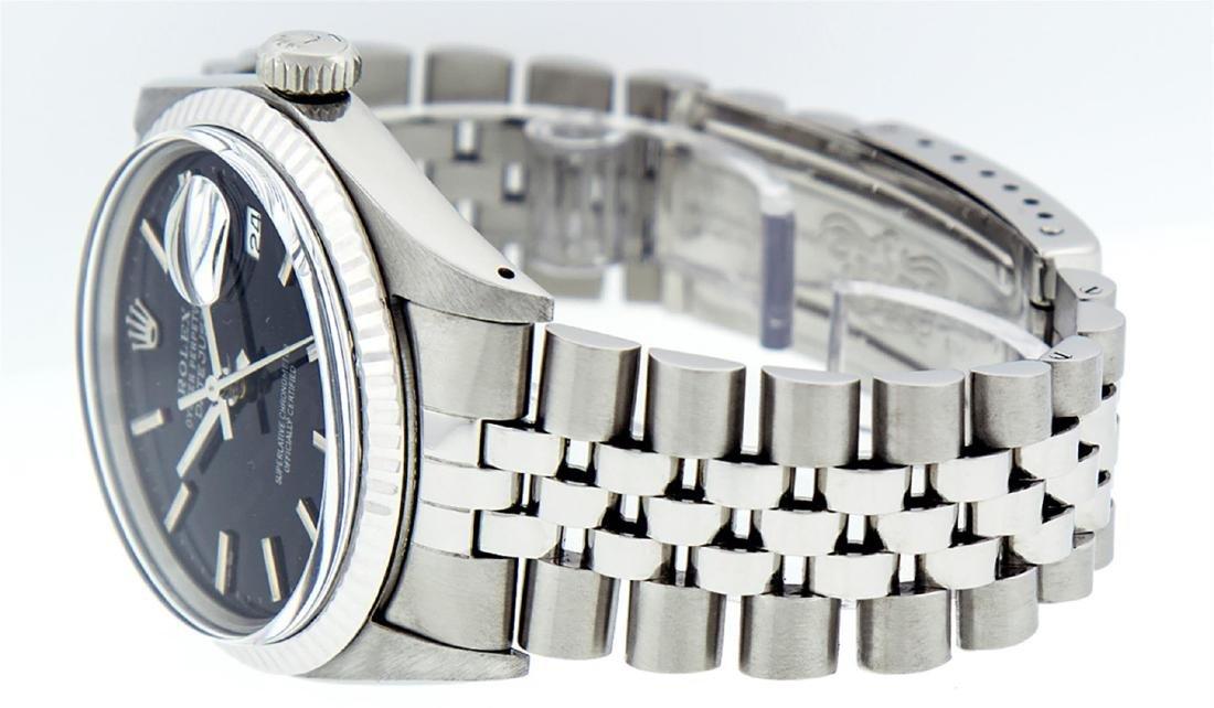 Rolex Men's Stainless Steel Black Index 36mm Datejust - 7