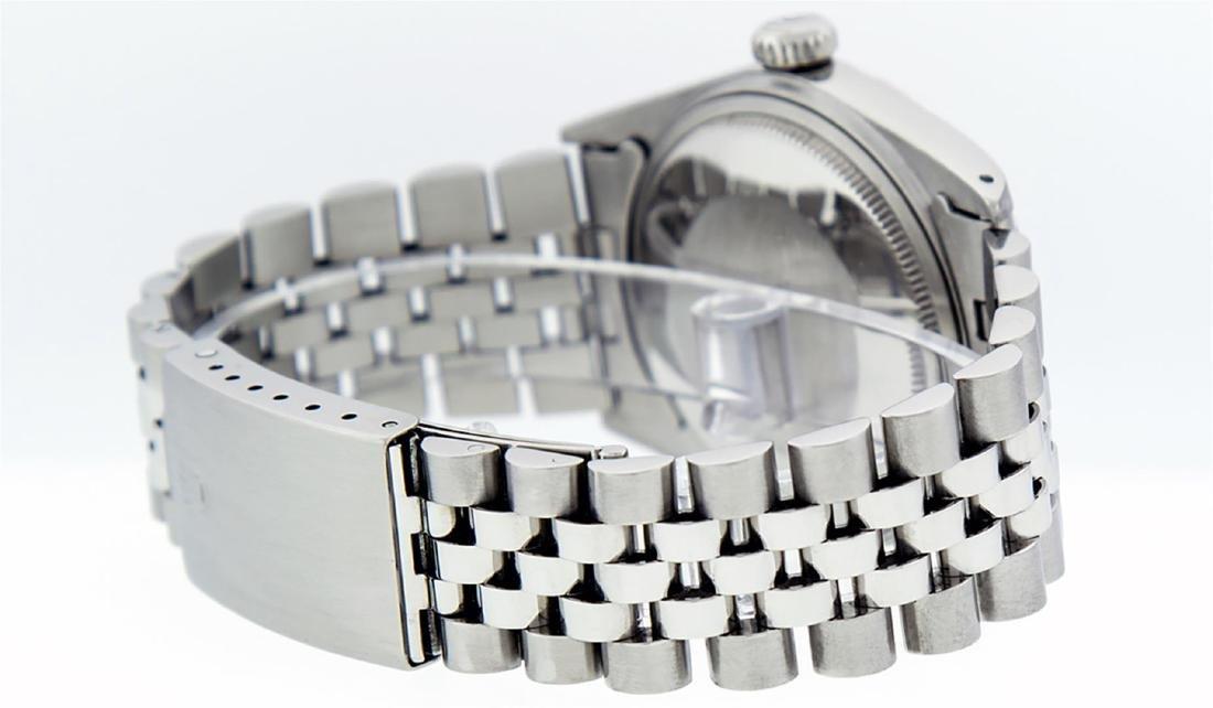 Rolex Men's Stainless Steel Black Index 36mm Datejust - 8