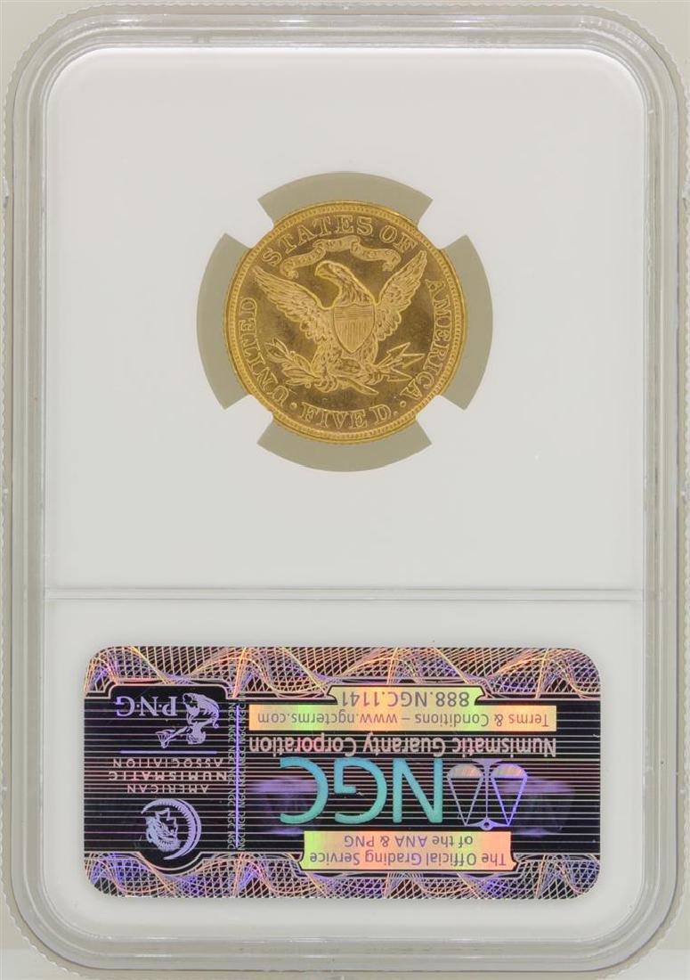 1895 $5 Liberty Head Half Eagle Gold Coin NGC MS62 - 2