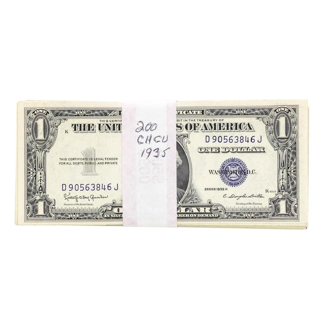 Lot of (200) 1935 Choice Uncirculated $1 Silver