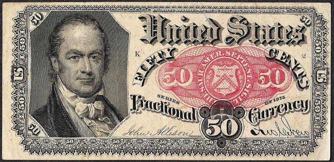1875 Twenty-Five Cent 5th Issue Fractional Note