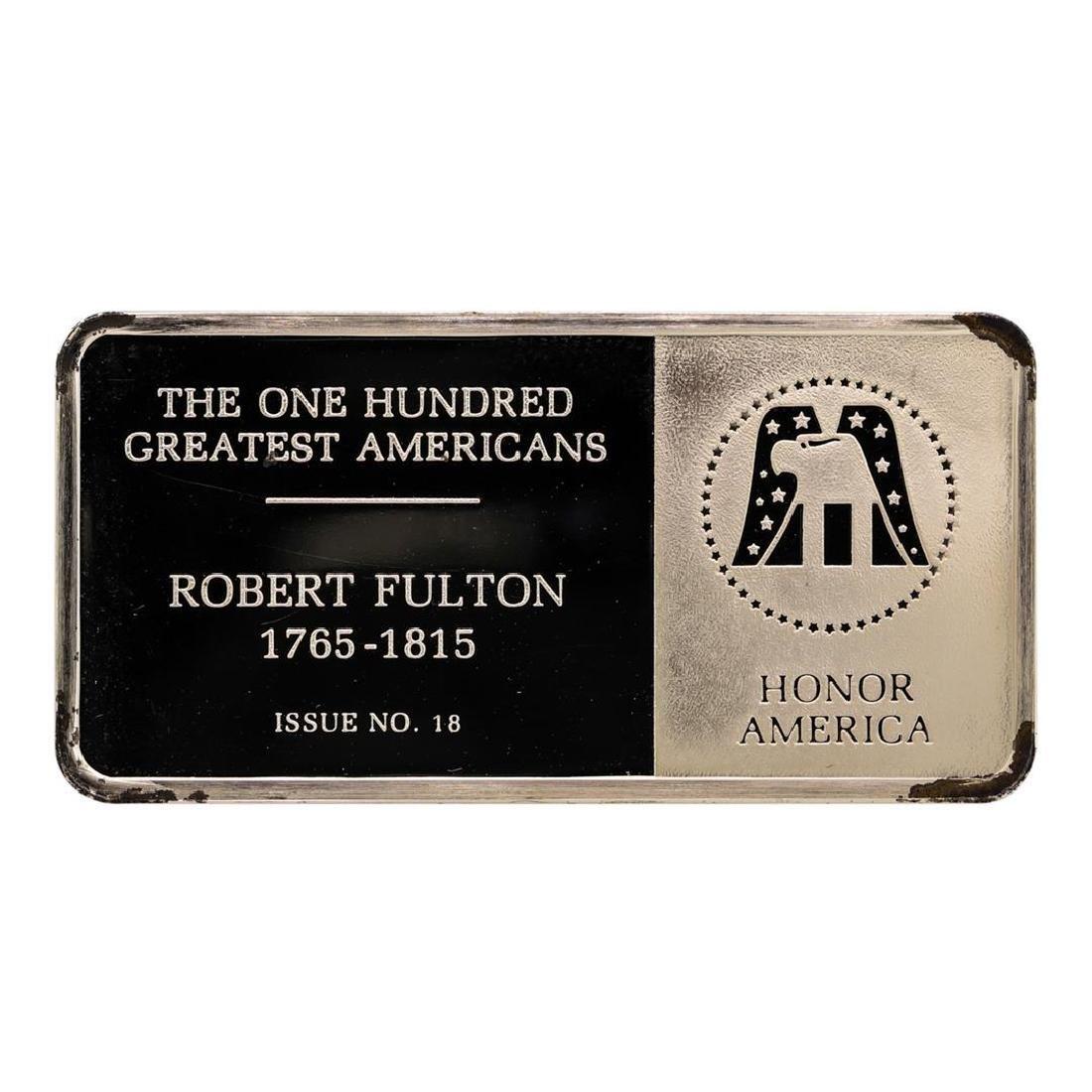 500 Grain Sterling Silver Franklin Mint 100 Greatest - 2