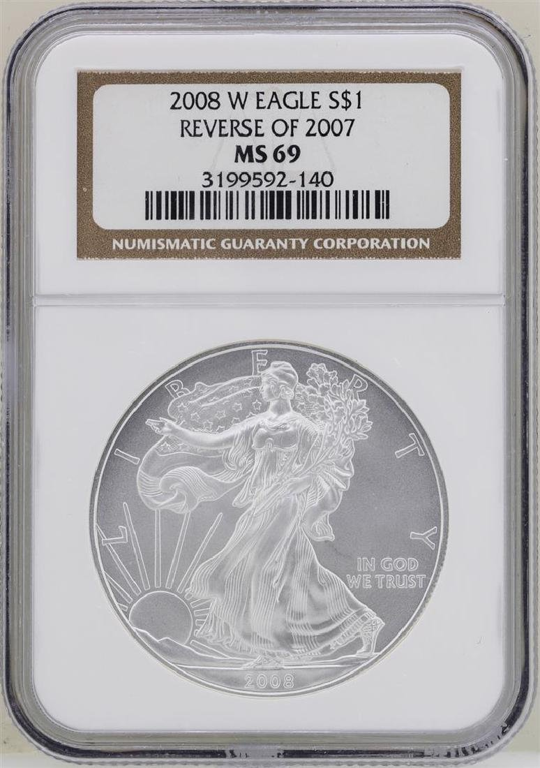 2008-W Reverse of 2007 $1 American Silver Eagle Coin