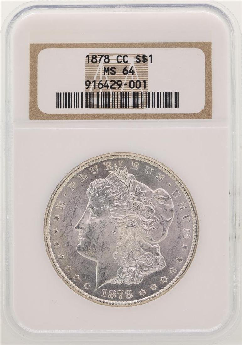 1878-CC $1 Morgan Silver Dollar Coin NGC MS64