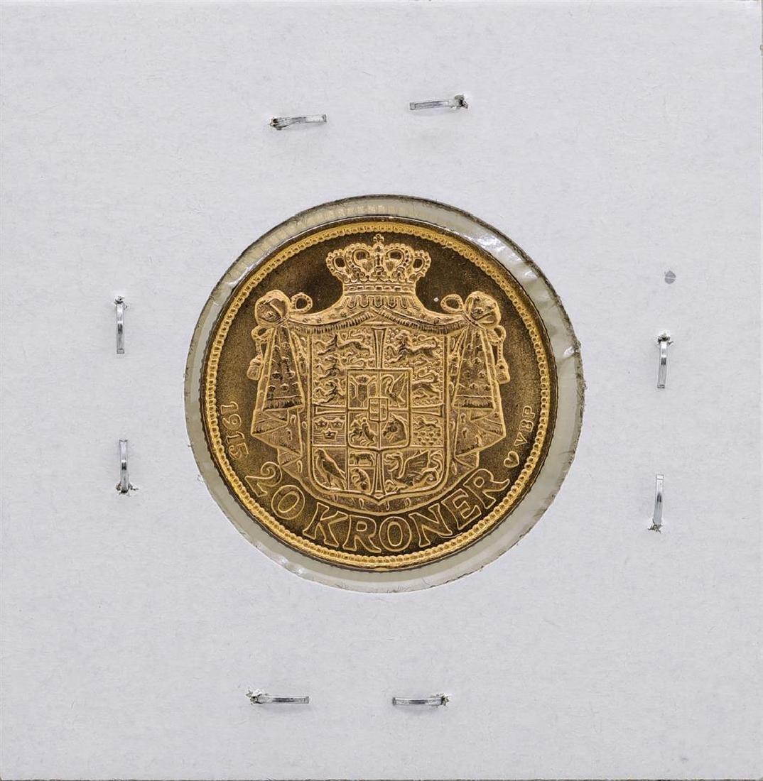 1915 Denmark 20 Kroner Gold Coin - 2