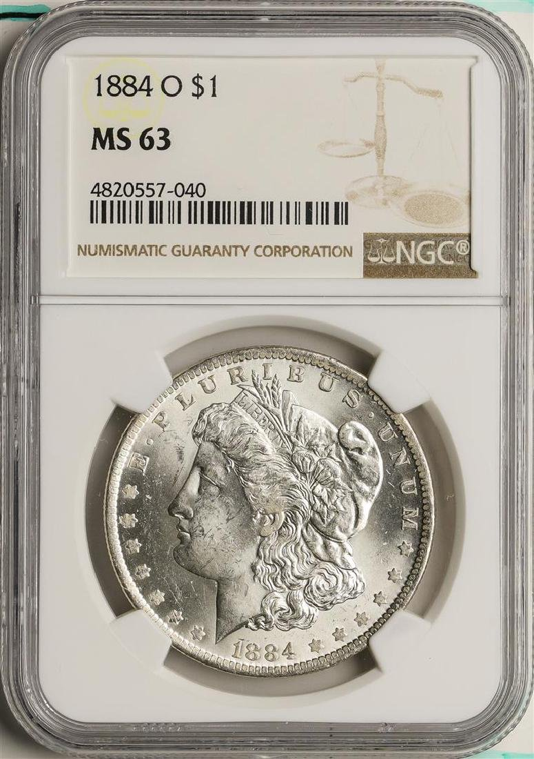 1884-O $1 Morgan Silver Dollar Coin NGC MS63