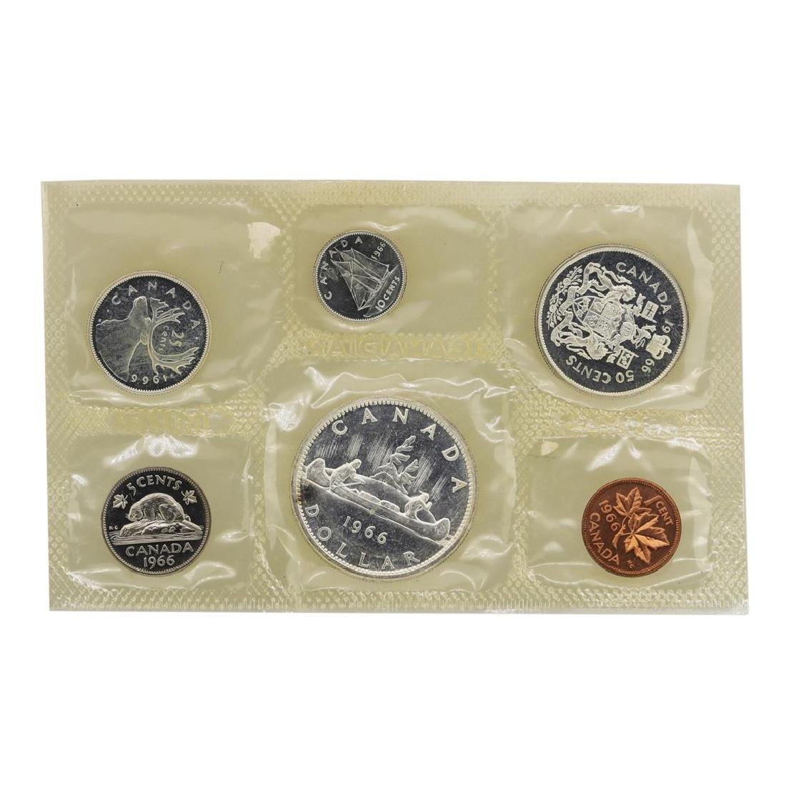Lot of 1965-1967 Canada (6) Coin Proof Sets w/ Envelope - 5