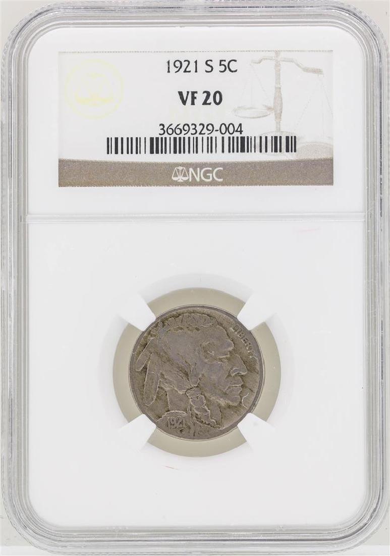 1921-S Buffalo Nickel Coin NGC VF20