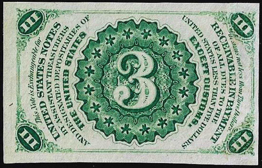 March 3, 1863 Three Cents Third Issue Fractional - 2