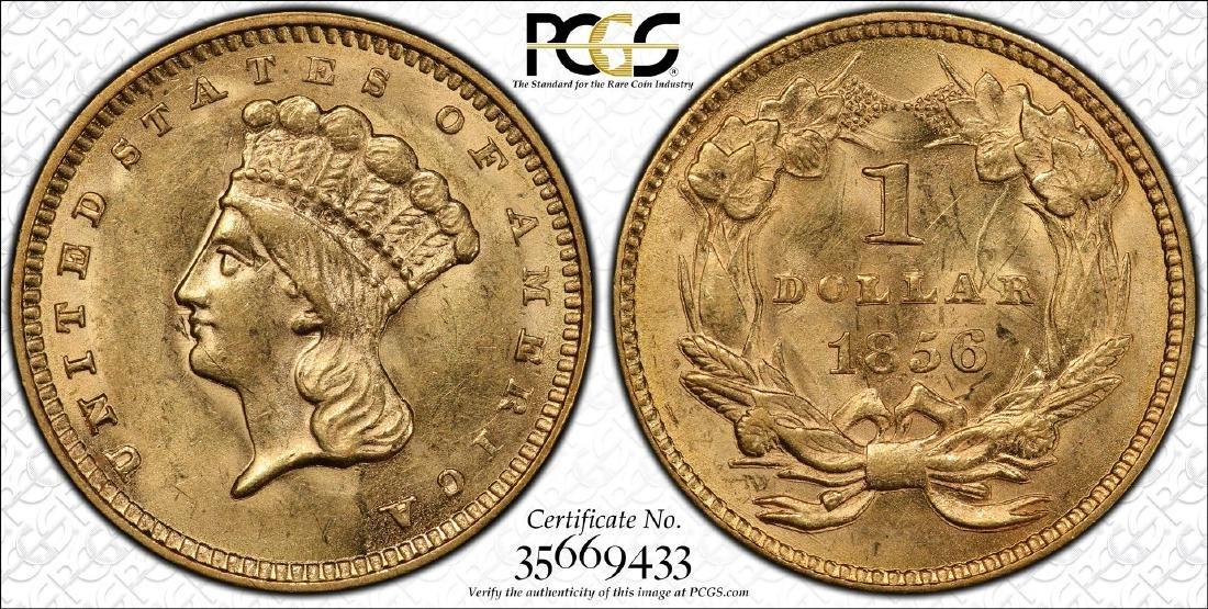 S.S. Central America Shipwreck 1856 $1 Indian Princess - 3