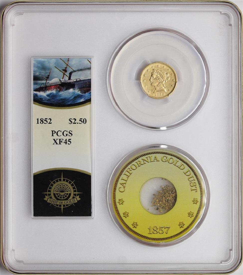 S.S. Central America Shipwreck 1852 $2 1/2 Quarter
