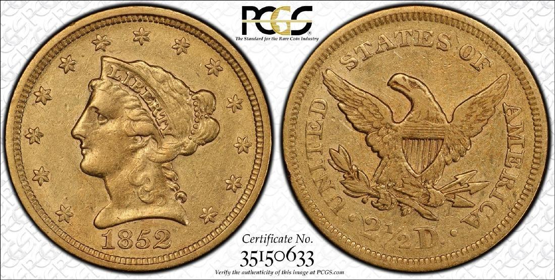 S.S. Central America Shipwreck 1852 $2 1/2 Quarter - 3