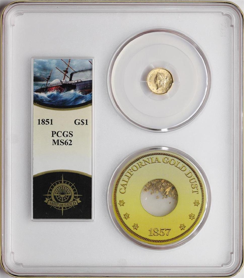 S.S. Central America Shipwreck 1851 $1 Liberty Head