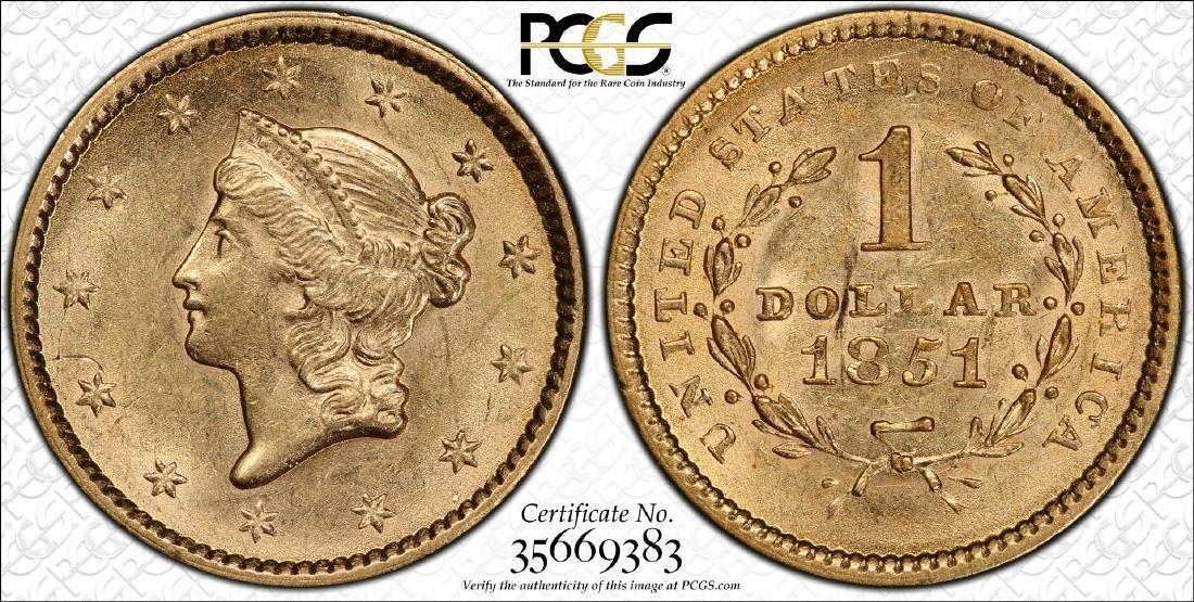 S.S. Central America Shipwreck 1851 $1 Liberty Head - 3