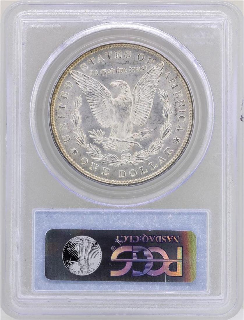 1885 $1 Morgan Silver Dollar Coin PCGS MS63 CAC AMAZING - 2