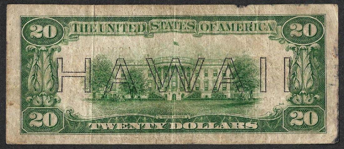 1934A $20 Federal Reserve WWII Emergency Hawaii Note - 2