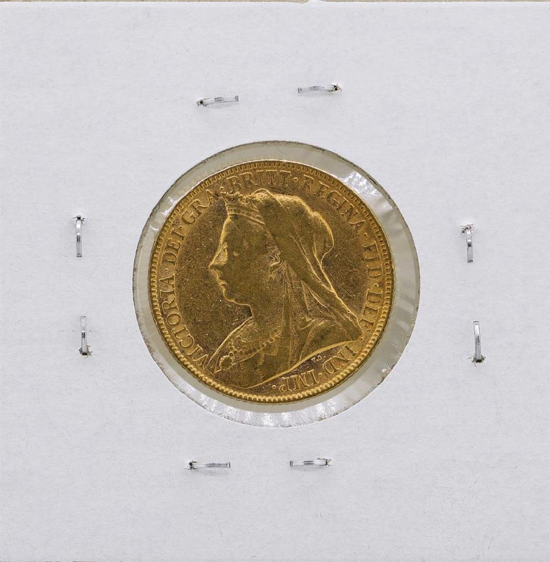 1900 Britain Queen Victoria 1/2 Sovereign Gold Coin - 2