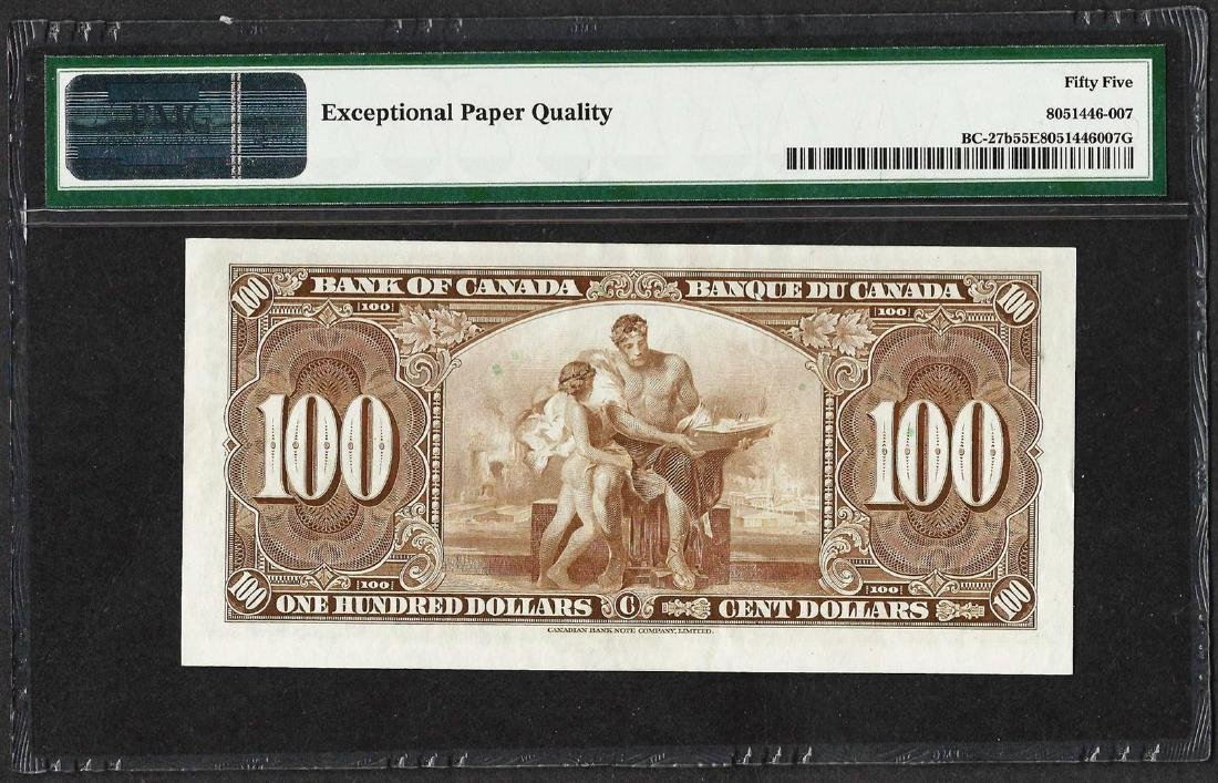 1937 $100 Bank of Canada Note BC-27b PMG About - 2