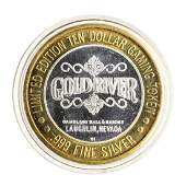 999 Silver Gold River Laughlin NV 10 Limited Edition