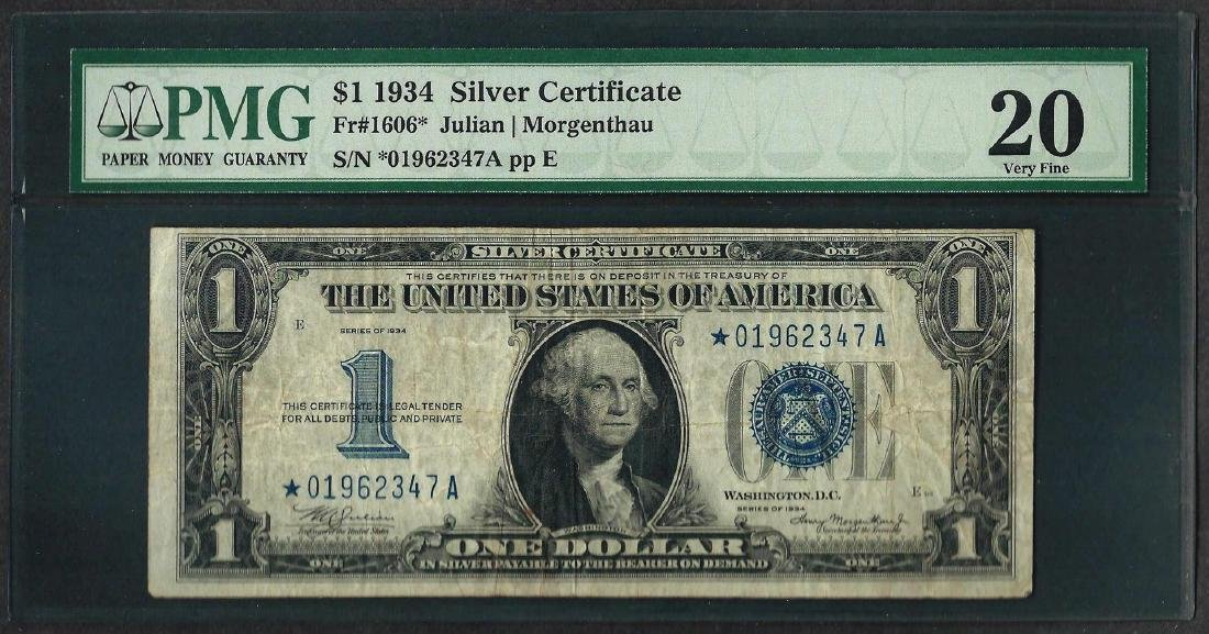 1934 $1 Funnyback Silver Certificate STAR Note Fr.1606*
