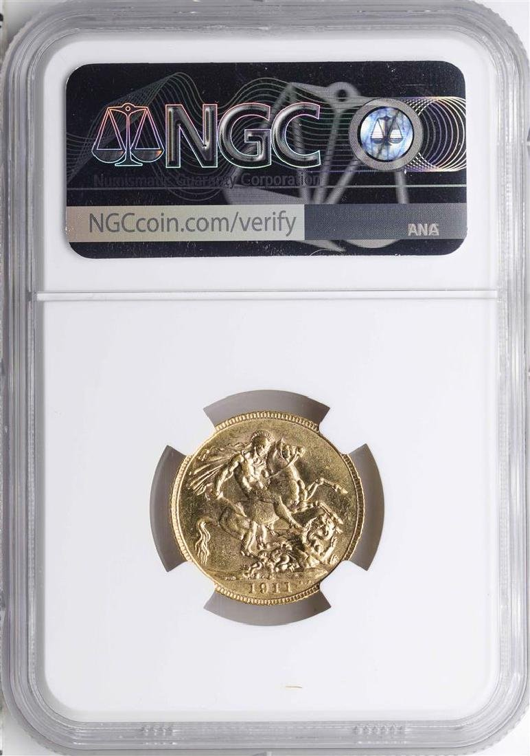 1911C Canada Sovereign Gold Coin NGC MS60 - 2