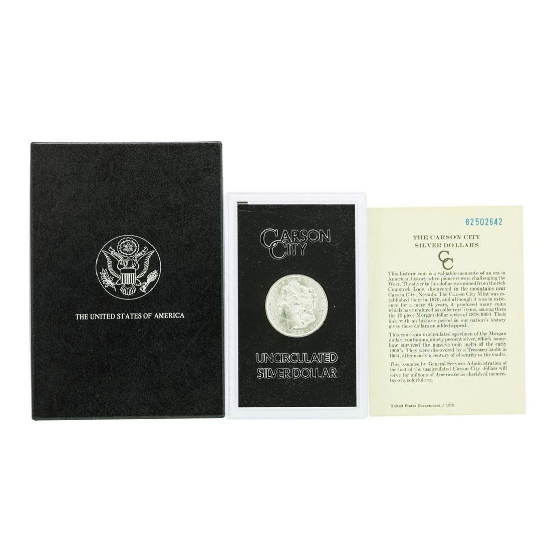 1882-CC $1 Morgan Silver Dollar Coin Uncirculated GSA