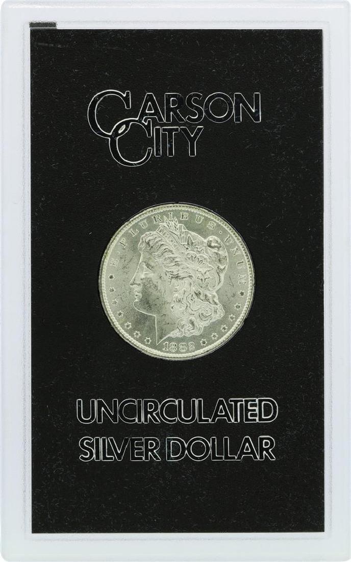 1882-CC $1 Morgan Silver Dollar Coin Uncirculated GSA - 2