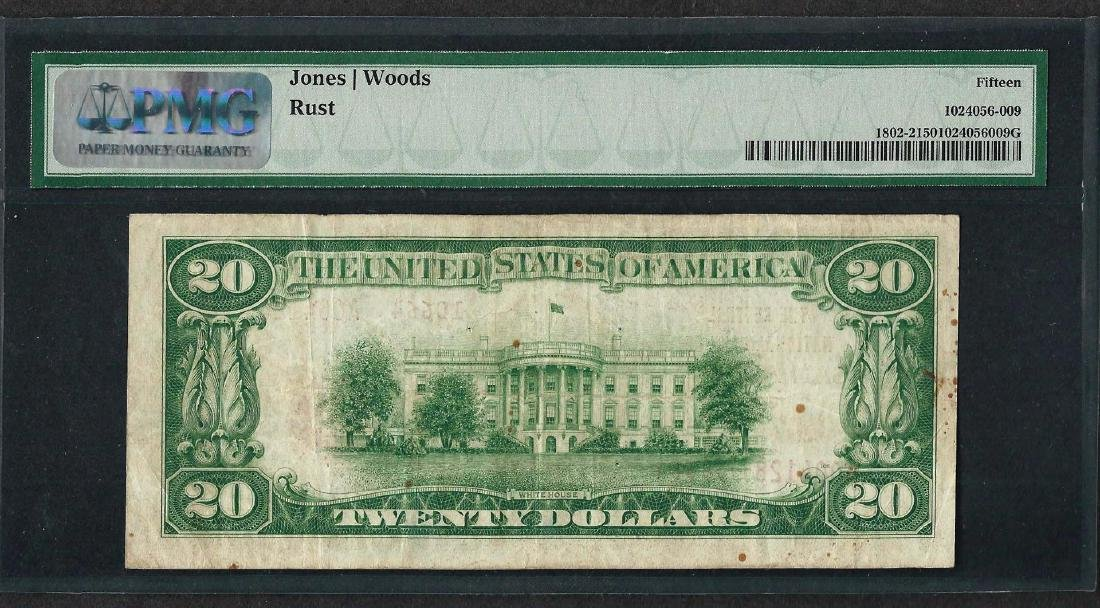 1929 $20 National Currency Note San Angelo, TX CH# - 2