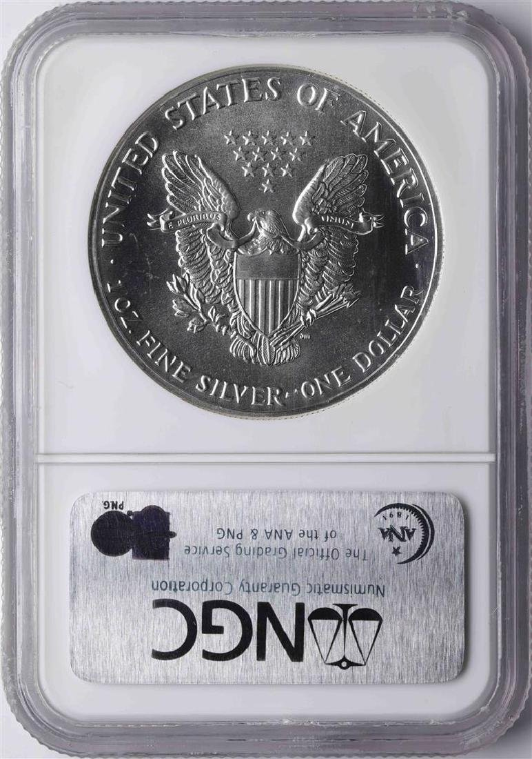 1989 $1 American Silver Eagle Coin NGC MS69 - 2