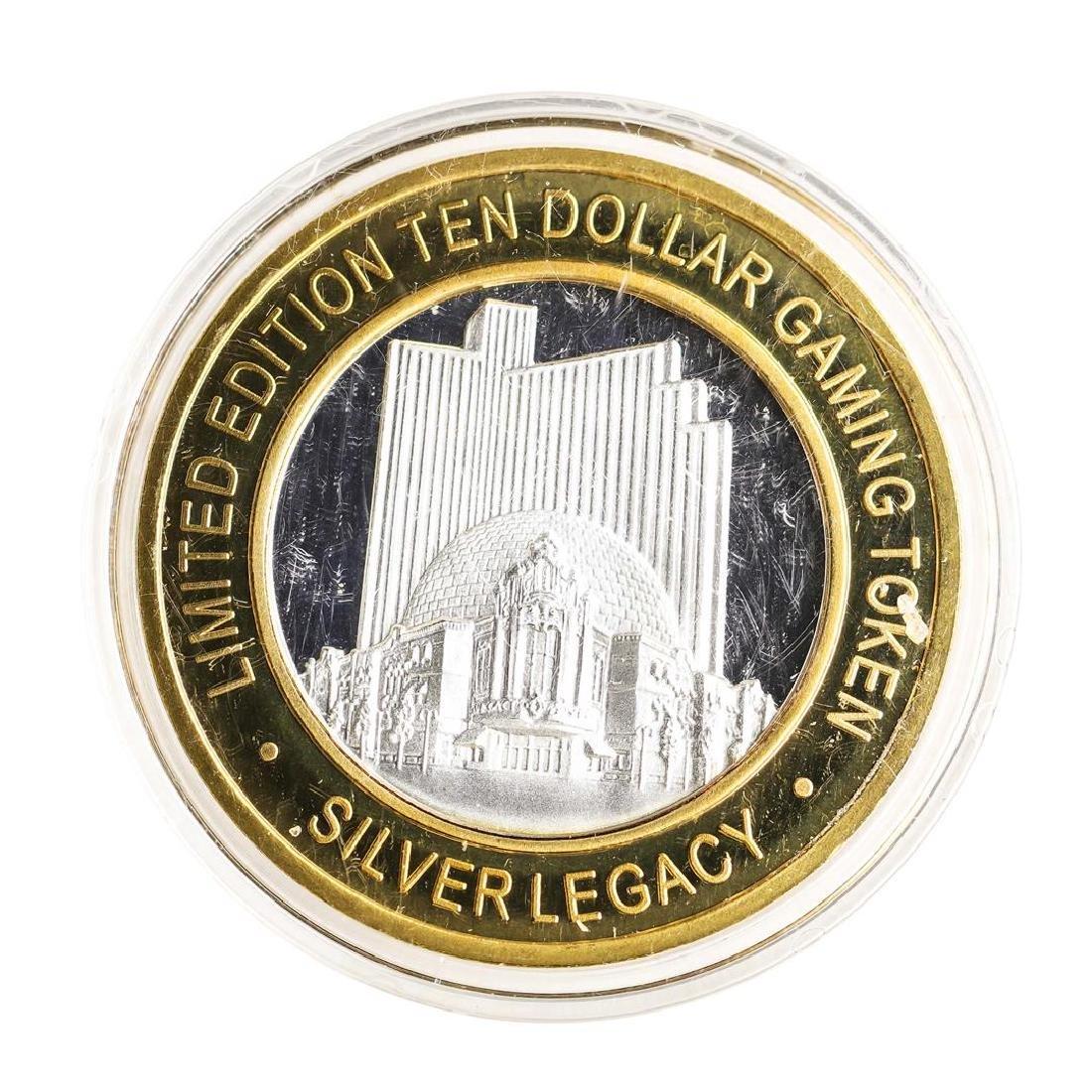 .999 Silver Silver Legacy Reno, Nevada $10 Casino