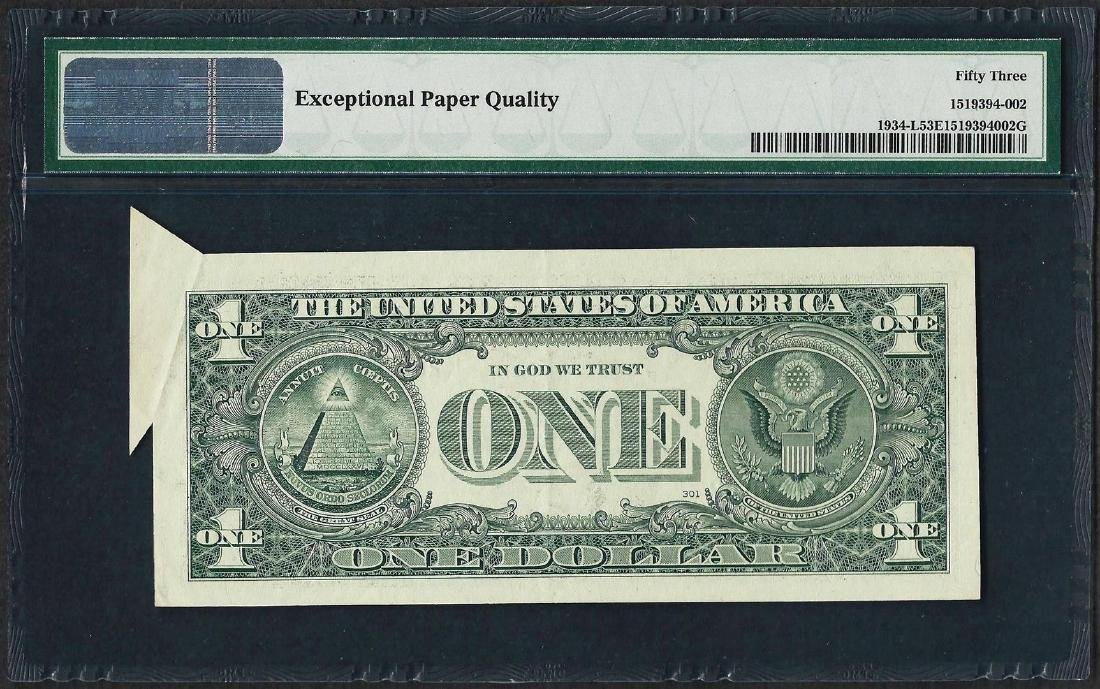 2009 $1 Federal Reserve Note ERROR Butterfly Fold PMG - 2