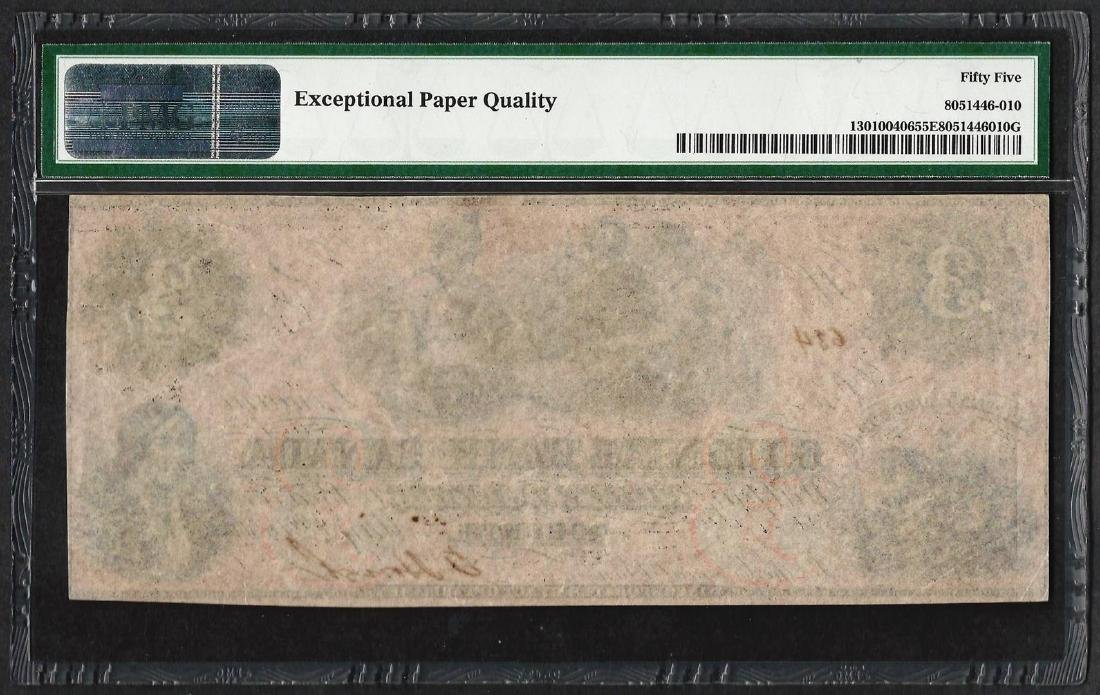 1859 $3 Colonial Bank of Canada Note PMG About - 2