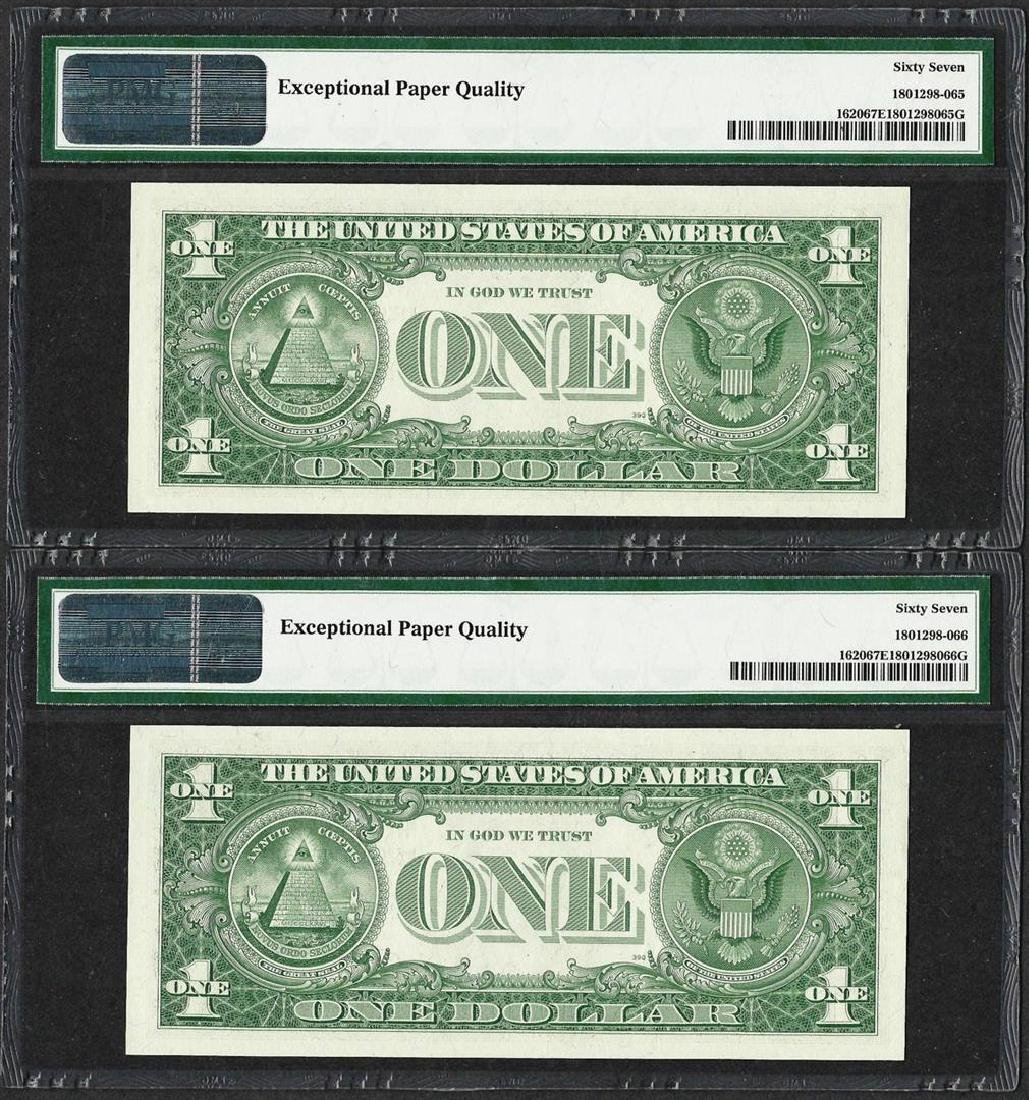Lot of (2) Consecutive 1957A $1 Silver Certificate - 2