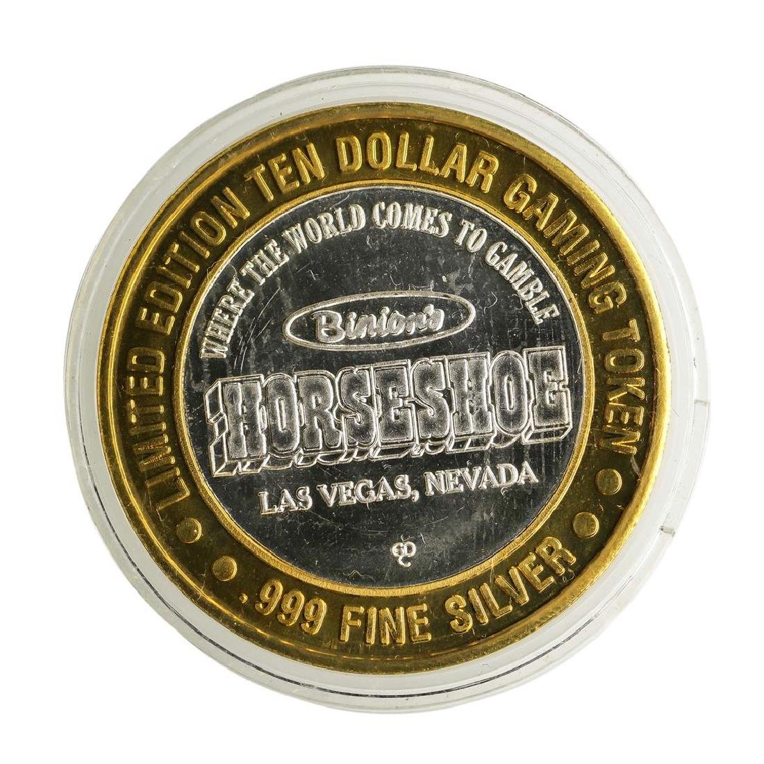 .999 Silver Imperial Palace Las Vegas, NV $10 Casino - 2