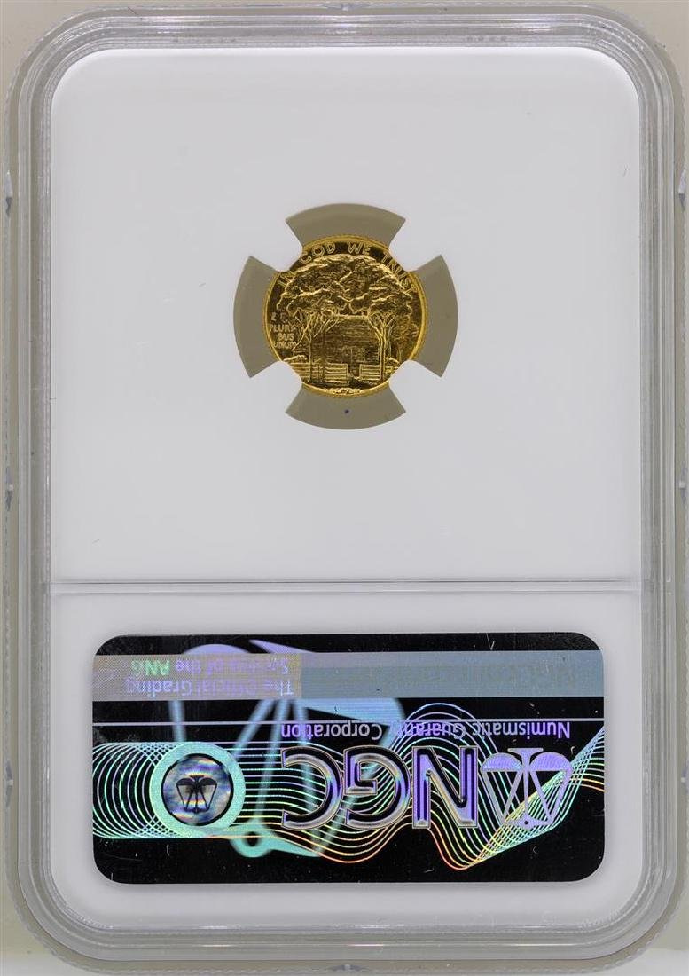 1922 $1 Grant Commemorative Gold Dollar Coin NGC MS64 - 2