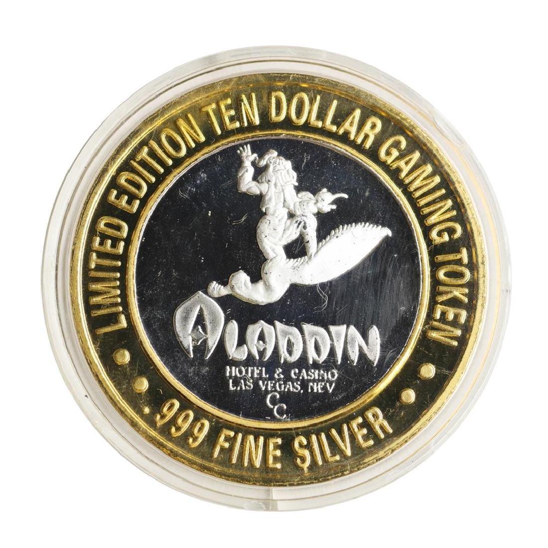 .999 Silver Aladdin Resort Casino $10 Casino Limited - 2
