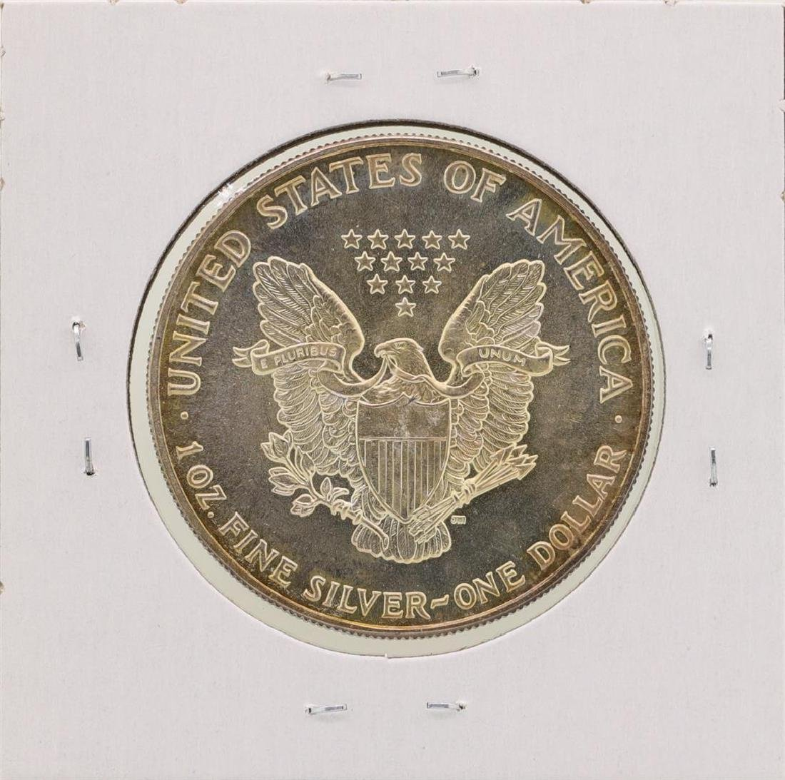 1988 $1 American Silver Eagle Coin Nice Toning - 2