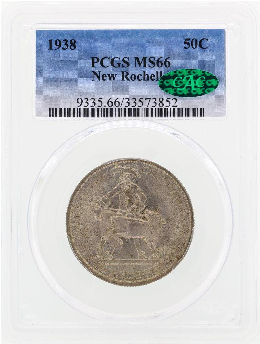 1938 New Rochelle Commemorative Half Dollar Coin PCGS