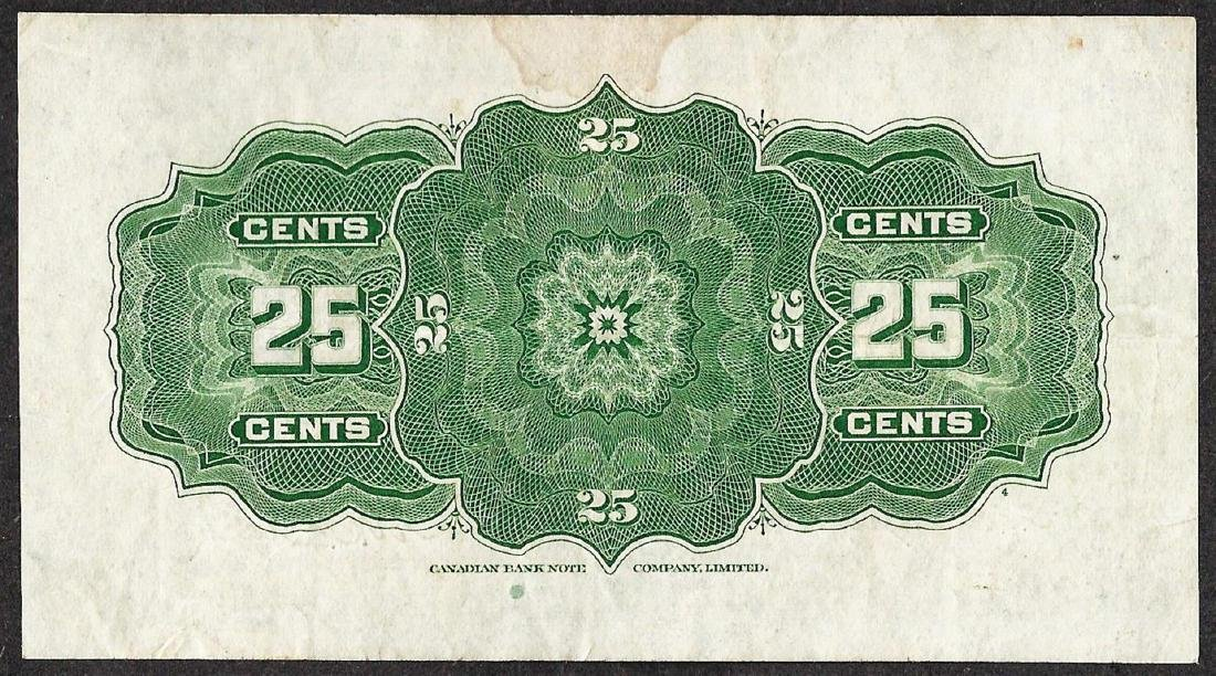 1923 Twenty Five Cents Dominion of Canada Note - 2