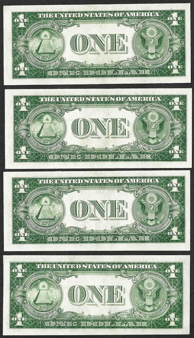 Lot of (4) Consecutive 1935D $1 Silver Certificate - 2
